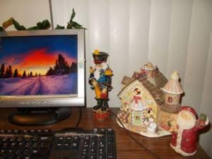 Christmas Wonderland Desk.