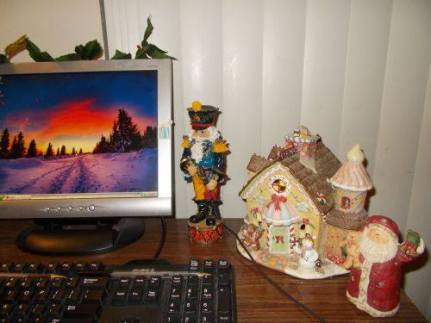Christmas Wonderland Desk.